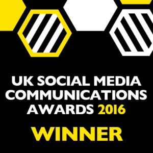 Uk Social Media Communications Awards Winner Badge